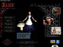 Old alice website main page late 2000