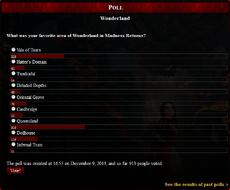 Wonderland poll