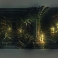 Arte conceptual del almacén.