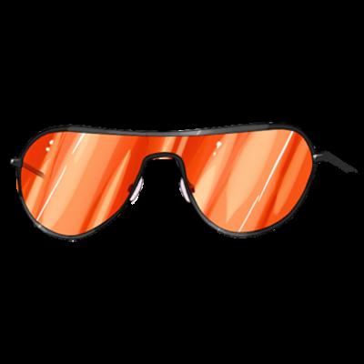 Óculos de Sol Laranja (olhos)