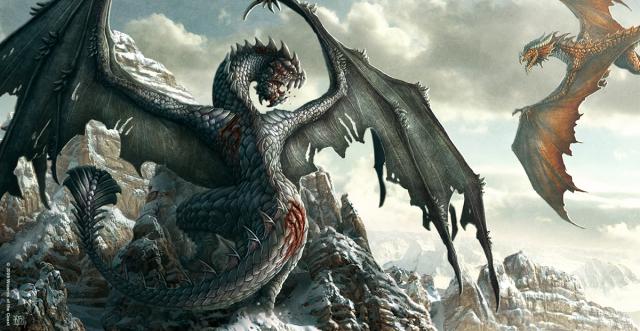 File:640x331 2169 War of Dragons 2d fantasy dragons battle mountains picture image digital art.jpg