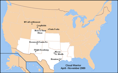 Cloud Warrior map