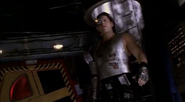 The entrance of cyborg Bobby