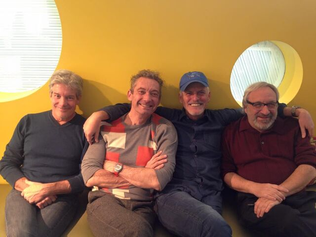 File:Rob Paulsen with Townsend Coleman, Cam Clarke, & Barry Gordon.jpg