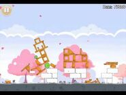 Official Angry Birds Seasons Walkthrough Hogs and Kisses 1-14