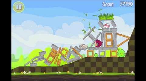 Angry Birds Seasons Easter Eggs Level 3 Walkthrough 3 Star