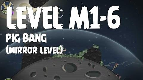 Angry Birds Space Pig Bang Level M1-6 Mirror World Walkthrough 3 Star