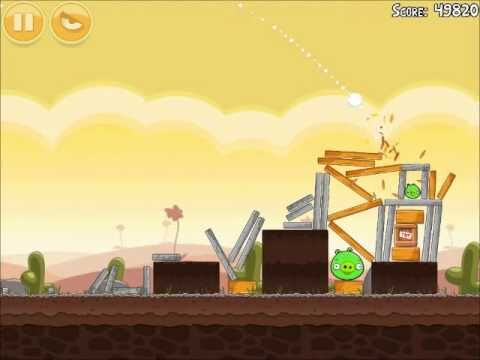 Official Angry Birds Walkthrough Poached Eggs 3-8