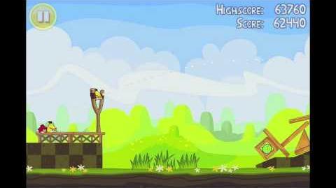 Angry Birds Seasons Easter Eggs Level 12 Walkthrough 3 Star