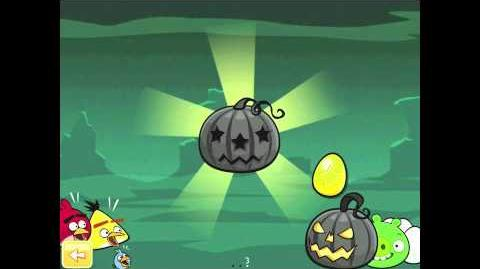 "Angry Birds Seasons Ham'o'ween Golden Egg 25 Walkthrough ""Big Black Pumpkin"" 2012 Halloween"