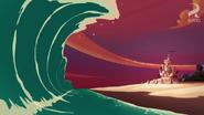 A HUGE WAVE