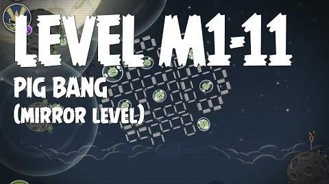 Angry Birds Space Pig Bang Level M1-11 Mirror World Walkthrough 3 Star