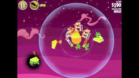 Angry Birds Space E-7 Utopia Golden Eggesteroid (Egg) 7 Walkthrough 3 star