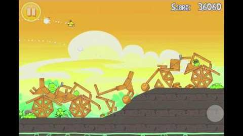 Angry Birds Seasons Go Green, Get Lucky 3 Star Walkthrough Level 10