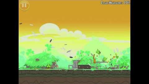 Angry Birds Seasons Go Green, Get Lucky 1-1 Mighty Eagle Walkthrough