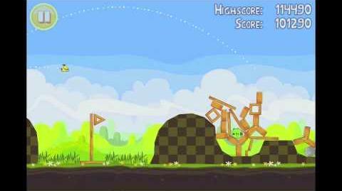 Angry Birds Seasons Easter Eggs Level 4 Walkthrough 3 Star