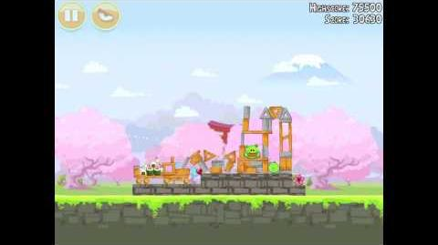 Angry Birds Seasons Cherry Blossom 1-4 Walkthrough 2012 3 Star