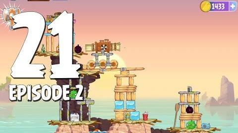 Angry Birds Stella Level 21 Episode 2 Beach Day Walkthrough