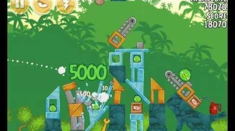 Angry Birds 21-6 Bad Piggies 3 Star Walkthrough (Angry Birds Classic 21-6)