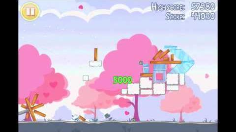 Angry Birds Seasons Hogs & Kisses 3 Star Walkthrough Level 3