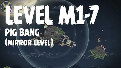 Angry Birds Space Pig Bang Level M1-7 Mirror World Walkthrough 3 Star