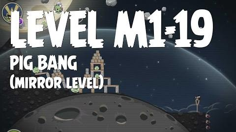 Angry Birds Space Pig Bang Level M1-19 Mirror World Walkthrough 3 Star