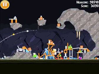 Official Angry Birds Walkthrough Mine and Dine 16-9