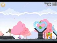 Official Angry Birds Seasons Walkthrough Hogs and Kisses 1-1