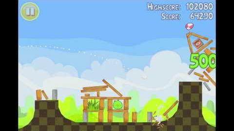 Angry Birds Seasons Easter Eggs Level 10 Walkthrough 3 Star