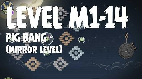 Angry Birds Space Pig Bang Level M1-14 Mirror World Walkthrough 3 Star