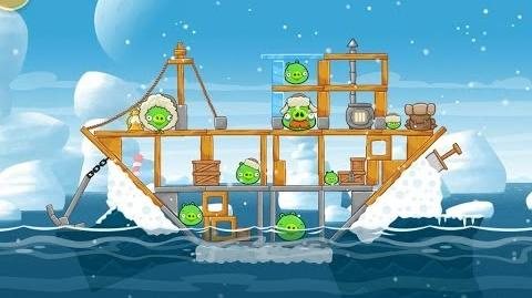 Angry Birds Seasons Arctic Eggspedition 1-8 Walkthrough 3 Star