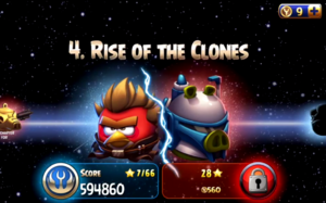Rise of the clones menu