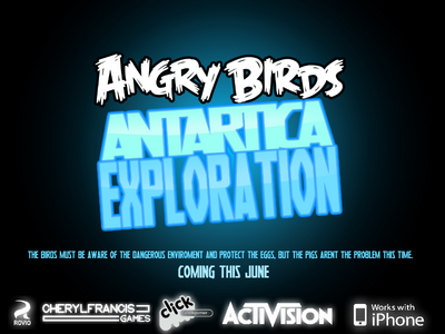 Angry Birds Antartica Exploration - Poster