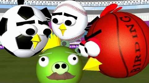 ANGRY BIRDS ♫ BALL GAME 3D SPOOF ☺ 3D Animation