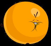 Inflated orange bird sprite