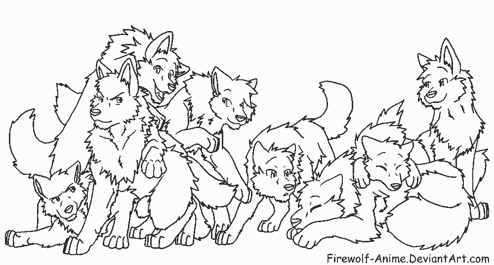 image anime wolf pack coloring pages 680617png animal jam clans wiki fandom powered by wikia - Friends Anime Coloring Pages