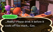 Brewster's Dislike for Cold Coffee
