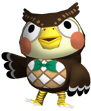 Blathers - Animal Crossing Wild World