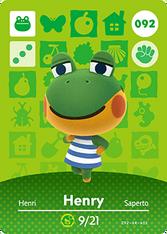 Amiibo 092 Henry