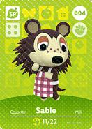 Amiibo card AnimalCrossing 04 Sable japanese
