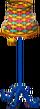 Cabana lamp colorful