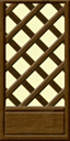 Wallpaper lattice wall