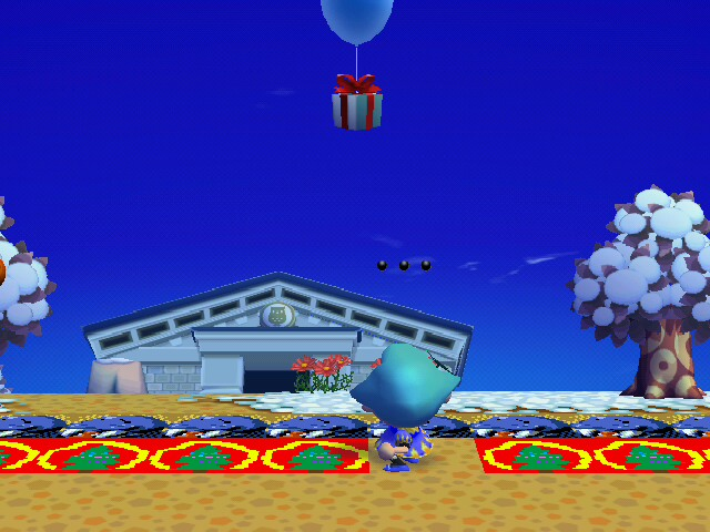 File:A player shooting down a present in City Folk.JPG
