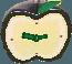 Juicy-apple clock silver