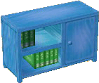 Light blue bookcase
