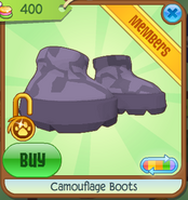 Camouflage Boots Purple