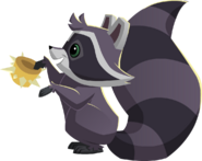 Raccoon with a spike