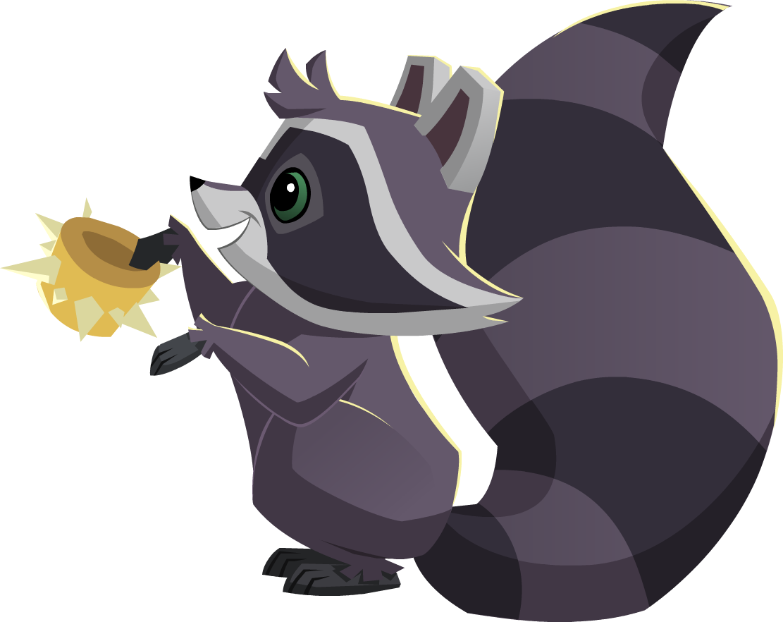 Coloring pages animal jam - Raccoon With A Spike