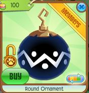 Shop Round-Ornament Zigzag-Blue