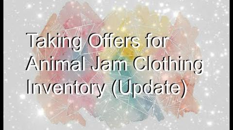Taking Offers for Clothing Inventory